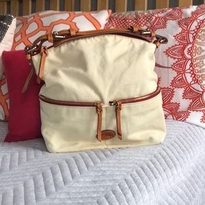 DOONEY canvas and leather purse